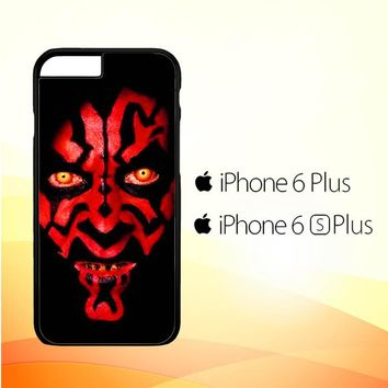 Star wars darth maul scary face V0516 iPhone 6 Plus 6S Plus Case