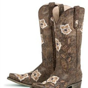 Women's Western Boots – Brown Sweet Caroline Ladies Cowboy Boots - Wedding Boots - Bridal Boots - Wedding Cowboy Boots