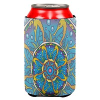 Mandala Trippy Stained Glass Seahorse All Over Can Cooler