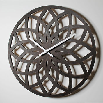 WOODEN WALL CLOCK - LOTUS CIRCLE