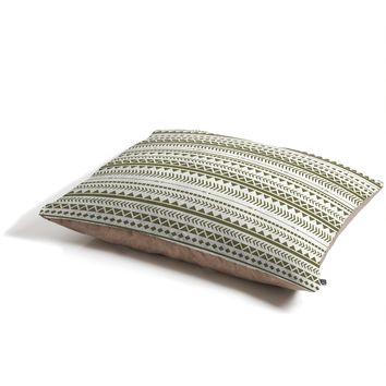 Allyson Johnson Green Aztec Pet Bed
