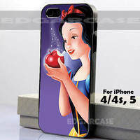 Snow White - Hard Cover - For iPhone 4 / 4S , iPhone 5 - Black / White Case