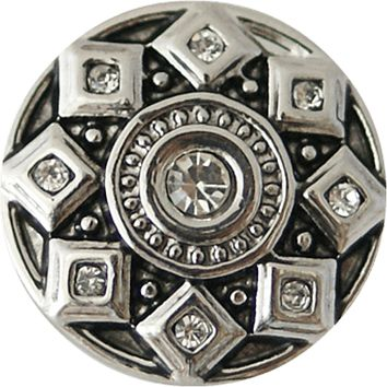 """Metal Snap with Squares 20mm 3/4"""""""