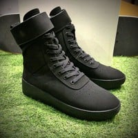 Best Online Sale Fear Of God FOG Justin Bieber Military High-Top Black Luxury Shoes
