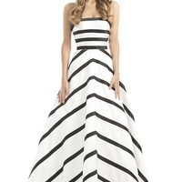 Johnathan Kayne 6034 Striped Strapless Ball Gown