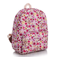 Travel Stylish Fashion Korean Canvas Pastoral Style Casual Backpack = 4888072836
