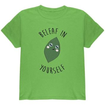 DCCKU3R Beleaf Believe in Yourself Pun Youth T Shirt