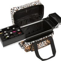 Seya Beauty Soft-Sided Makeup Artist Nail Polish / Lipstick Storage Bag Case (Leopard)