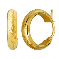 The Lord of the Rings One Ring Earrings by Noble |