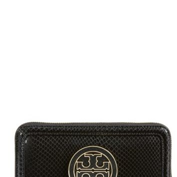 Tory Burch 'Amanda' Snake Embossed Continental Wallet