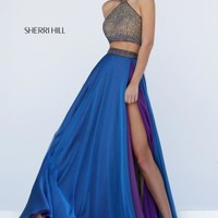 Sherri Hill Two Piece A Line Dress 50042
