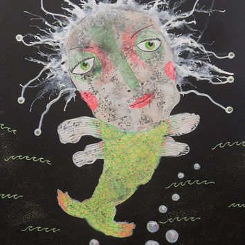 Raw Art Fish - Folk Art Fish - Primitive Art Fish - Fish Illustrations - Fish Paintings - Art Brut Fish - Outsider Art Fish - Quirky Fish