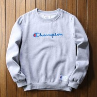Champion Cotton Fashion Embroidery Casual Top Sweater Pullover Sweatshirt