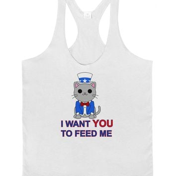 Patriotic Cat I Want You Mens String Tank Top by TooLoud