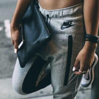 Women Fashion Print Sport Stretch Pants Trousers Sweatpants