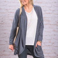 Casual Intrigue Cardigan, Blue