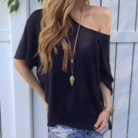 Fashion Women Ladies One Shoulder Summer Short Sleeve Top  T-Shirt = 5988179649