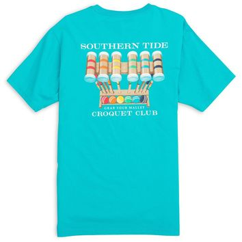 Croquet Club Pocket Tee in Scuba Blue by Southern Tide