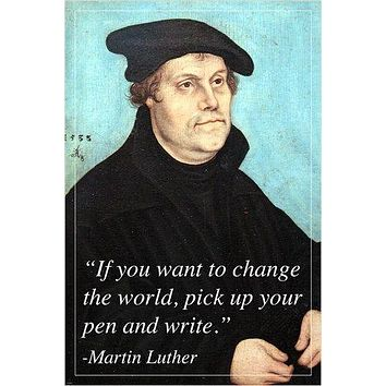 MARTIN LUTHER reformer of christianity INSPIRATIONAL quote poster 24X36 RARE