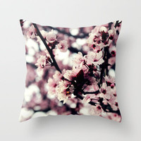 Cherry blossom Throw Pillow by JoanaRosaC