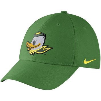 Oregon Ducks Green Mascot Nike Dri-Fit Wool Classic Adjustable Hat