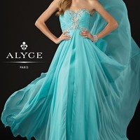 Alyce 6925 Blue Evening Gown