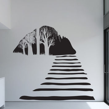 Vinyl Wall Decal Sticker Stairway Cave View #OS_DC687