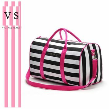 Stripes Canvas One Shoulder Bags Tote Bag [12149144275]