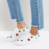 ASOS DAWN Star Sneakers at asos.com