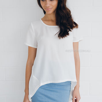 chanelle top - ivory
