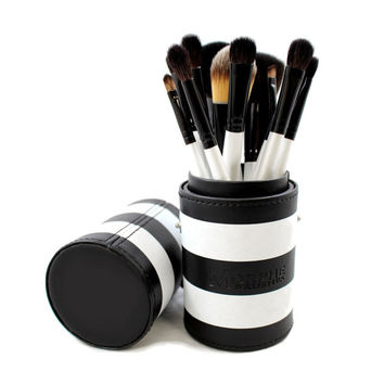 Morphe 12-Piece Black and White Travel Brush Set | Overstock.com Shopping - The Best Deals on Makeup Brushes