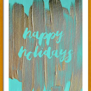Happy Holidays 2 #painting #minimalism by Andrea Anderegg Photography