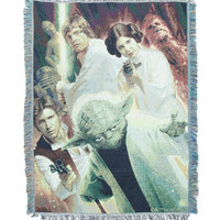Star Wars Rebel Group Woven Tapestry Throw