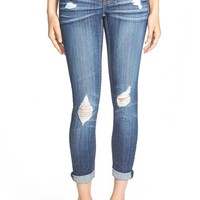 Junior Women's Vigoss 'Tomboy' Destroyed Skinny Jeans ,