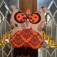 Halloween Owl Door Hanger