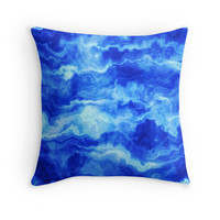 Stormy Blue Abstract Waves