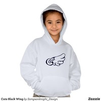Cute Black Wing T-shirt from Zazzle.com