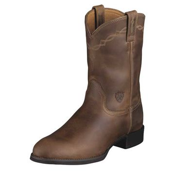 Ariat Men's Heritage Roper Boots - Distressed Brown - 10002284