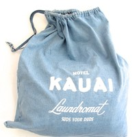 MOTEL KAUAI CHAMBRAY WASHER BAG | HOME ACCESSORIES | KAWAIIAN LION - Hunters and Gatherers