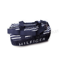 Tommy Hilfiger Duffle Bag Multi Colored Navy Blue Striped Large