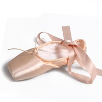 Ballet Point Shoe Girls Satin Professional Toe Ballet Pointe Shoes With Ribbons