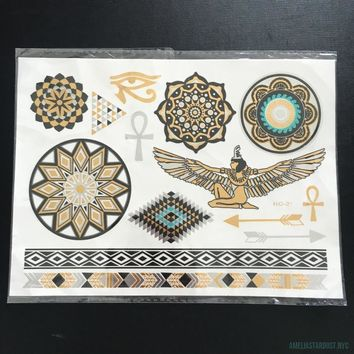 Egyptian Inspired Flash Tattoos