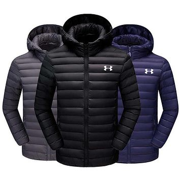 Under Armour Men Zipper Cardigan Jacket Coat Windbreaker Thin And light Hoodie
