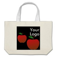 Heart Tote Bag with Logo Space