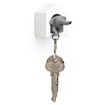 Elephant Key Ring Holder (grey)