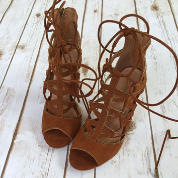 Bamboo Chestnut Laceup Bootie