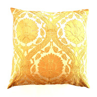 BODRUM BROCADE DECORATIVE PILLOWS | Gold