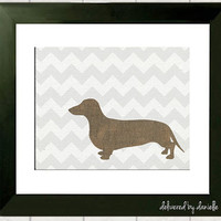 Dachshund Modern Art Print  8x10 by DeliveredByDanielle on Etsy