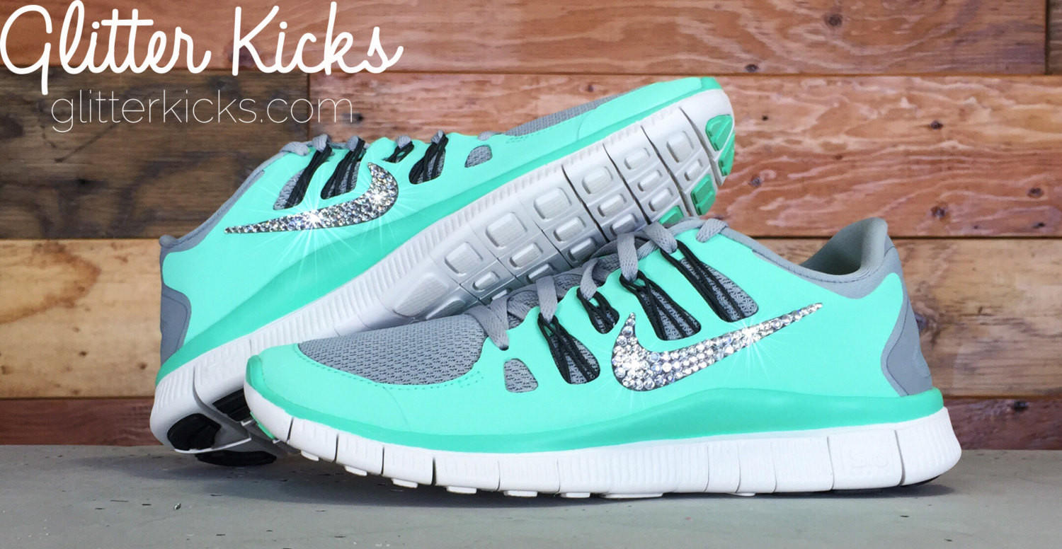 Women s Blinged Out Nike Free 5.0+ from Glitter Kicks  e9afcc534b91