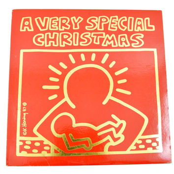 Vintage 80s A Very Special Christmas Compilation Keith Haring Art Album Record Vinyl LP